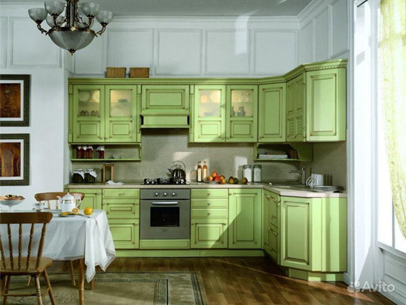 кухня угловая фото цвет фисташка