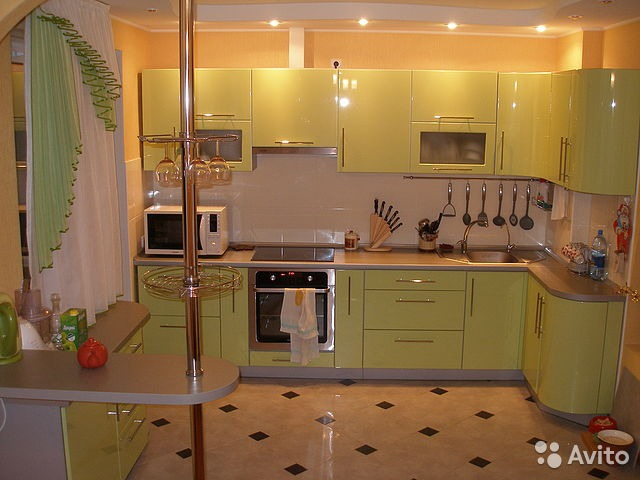 Кухни комбинированные цвета фото