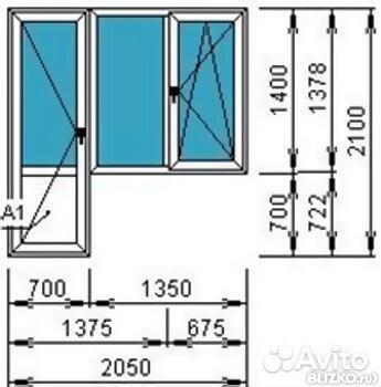 Пластиковое окно кве энжин две створки и балконная дверь.