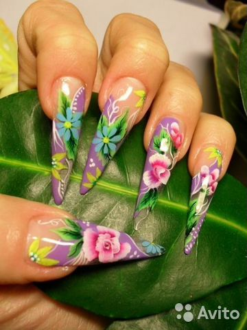 Дизайн нарощенных ногтей новинки весна френч