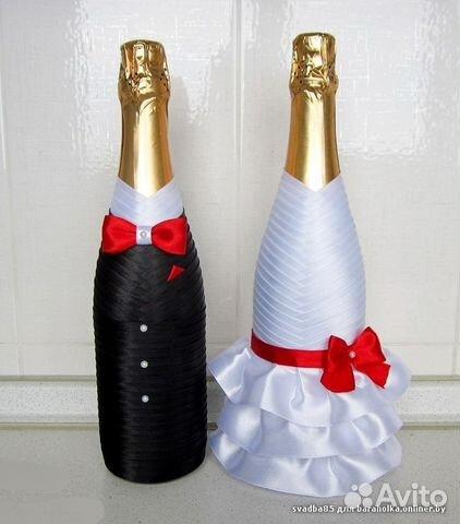 Сделать своими руками свадебное шампанское