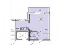1-к. квартира, 35,6м², 4/10эт.