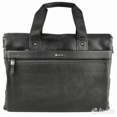 Мужская кожаная сумка -Prada A4 Мужские сумки - Личные вещи, Одежда ... 9484a16a24a