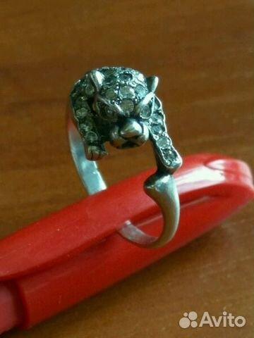 Кольцо пантера гепард 18 размер серебро 925 89280788337 купить 1