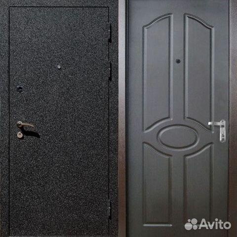 железная дверь в тамбур с порошковым покрытием под крокодила