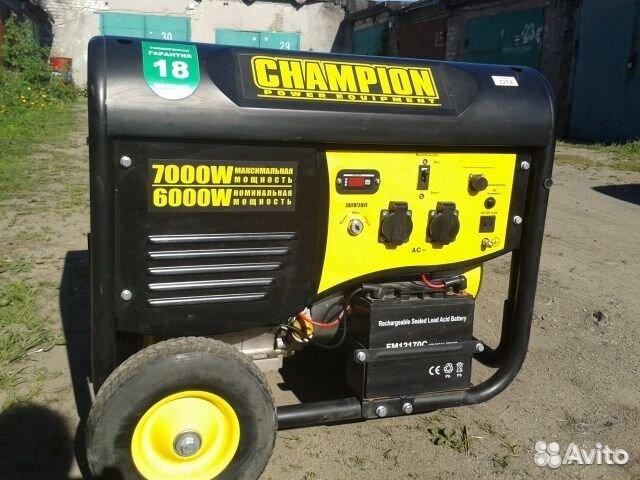 Генератор Чемпион 6,0-7,0 кВт эл.стартер, колеса 89062372463 купить 1