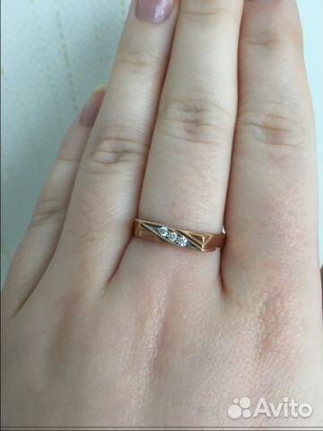 d17adf1f263e Золотое кольцо с бриллиантами, 18,5 размер   Festima.Ru - Мониторинг ...