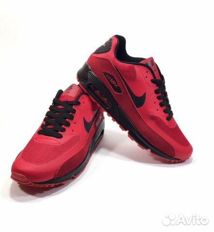f562f53b Кроссовки Nike Air Max 90 красные мужские с чёрным купить в Москве ...