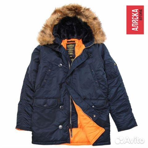 4d9ed0365b2 Куртка мужская зимняя N-3B Slim Fit Alpha Ind.2XL