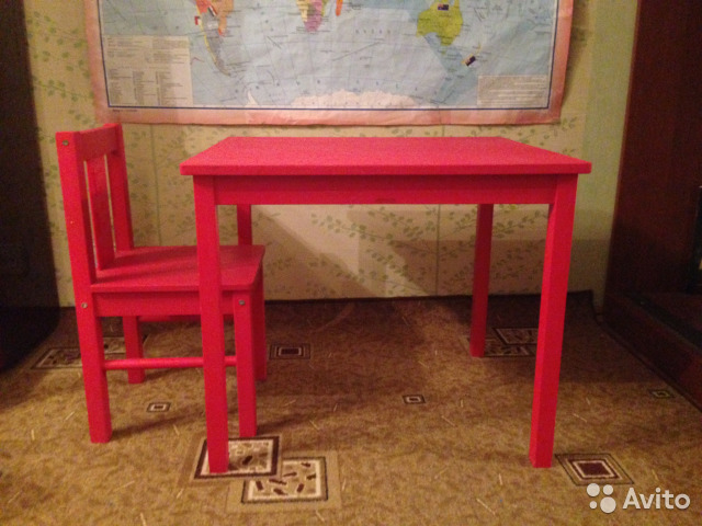 детский стол и стул икеа купить в москве на Avito объявления на