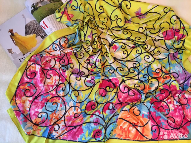 кензо платки шелковые