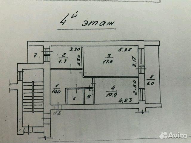 Продается двухкомнатная квартира за 1 650 000 рублей. Саратовская область, Балашов, улица Карла Маркса, 85.