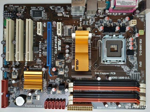 Asus P5P43TD(DDR3) сокет 775, гарантия купить в