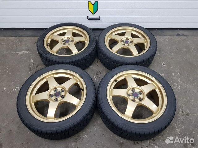 89625003353 Диски Rays STI с резиной на 17 комплект Subaru For