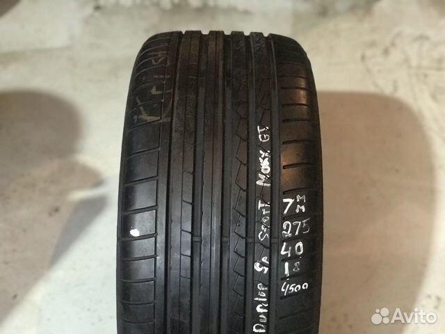 89380001718 275/40/18 Continental - 1 шт, Dunlop - 1 шт