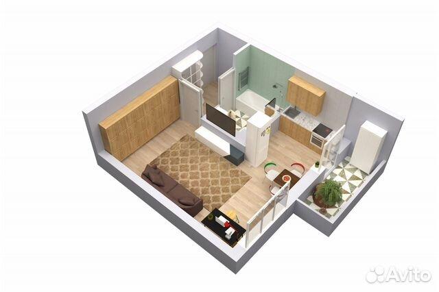 Студия, 30.1 м², 1/16 эт. 89109732876 купить 2