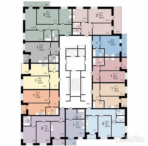 3-к квартира, 76.6 м², 4/16 эт.  89290111193 купить 2