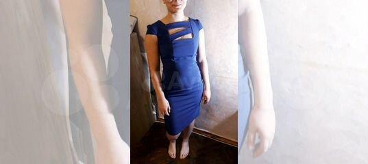 ce48f9805e6 Платье-футляр синее с интересным декольте.44-46 купить в Санкт-Петербурге  на Avito — Объявления на сайте Авито