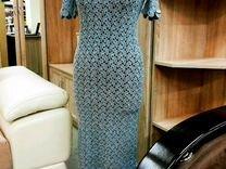 Платье вечернее ажурное вязаное