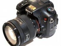 Sony A77(17-70мм/f2.8-4) Фильтр.Сумка.16гб.Доп/Акб