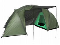 Палатка кемпинговая 4-местная 2-слойная Хаки
