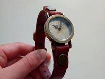 Часы с кожанным ремешком