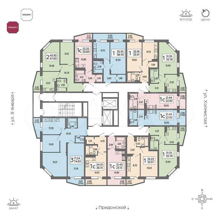 Квартира-студия, 23.1 м², 7/18 эт.  89202104104 купить 3