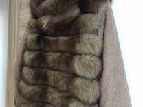 Меховая куртка с капюшоном (натур песец) 3 в 1