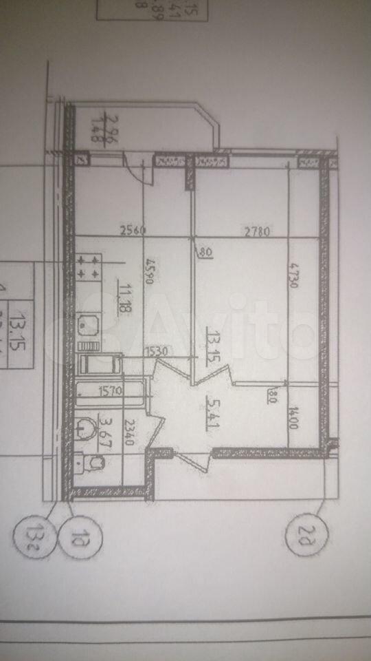 1-к квартира, 33.4 м², 8/17 эт.  89090546504 купить 1