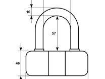 Замок Onguard 5046 для противоугонной цепи 13-20мм