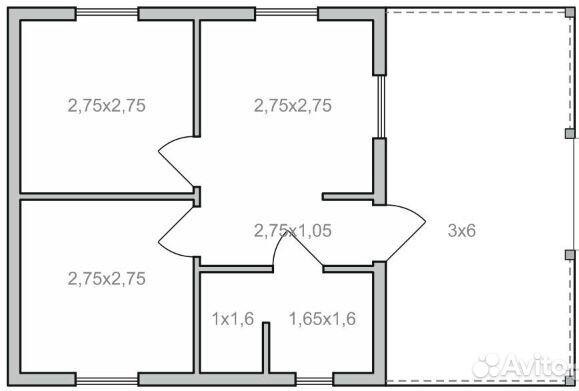 Дачный домик 6,0х6,0  89225996177 купить 8