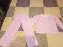 Пижамка для девочки (утепленная) - для сада, дома