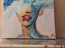 Картина акрилом «Море внутри» ручная работа, 50х50