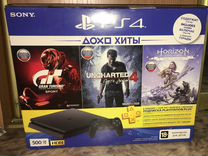 Sony PlayStation 4 slim 500gb+3игры